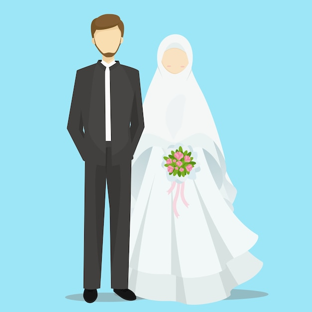 muslim bride and groom cartoon characters illustration bridal clipart images bridal clipart flowers