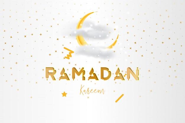 Muslim feast of the holy month of ramadan kareem background Premium Vector