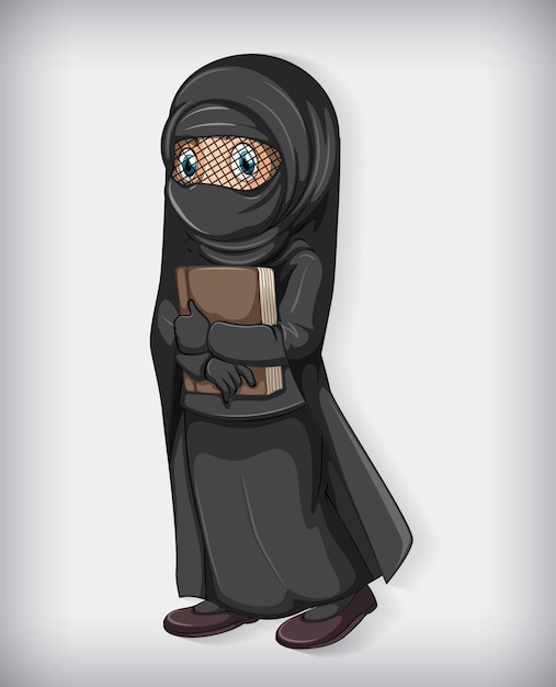 Libro della holding della ragazza musulmana Vettore gratuito