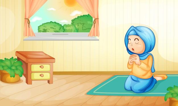 Muslim praying Free Vector