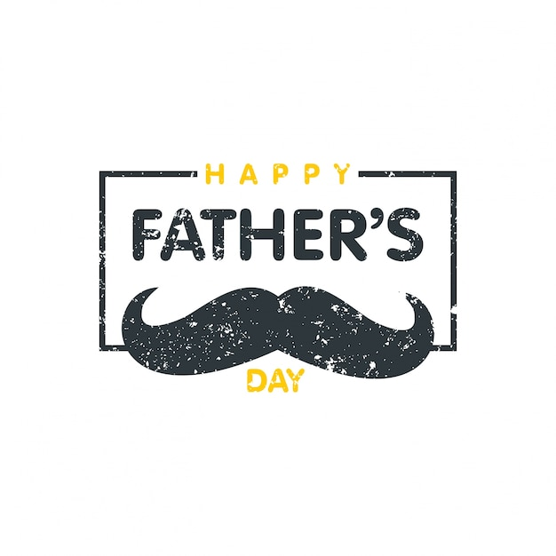mustache background with vintage father's day Free Vector
