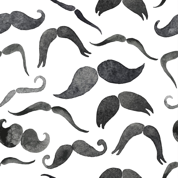 Mustaches seamless pattern Premium Vector