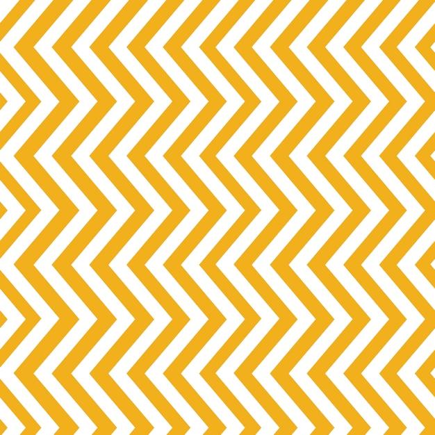 Mustard yellow seamless zigzag pattern Free Vector
