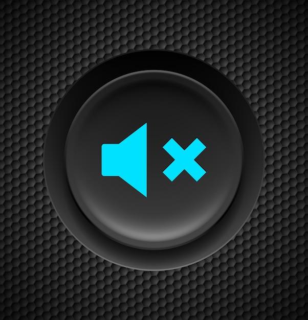 消音ボタン。 Premiumベクター
