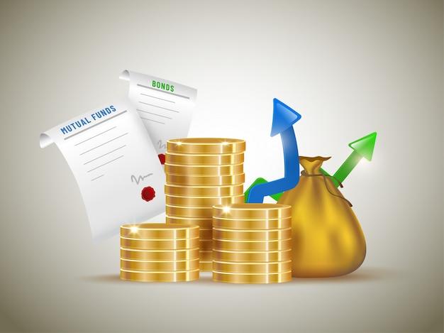 Mutual funds concept. Premium Vector