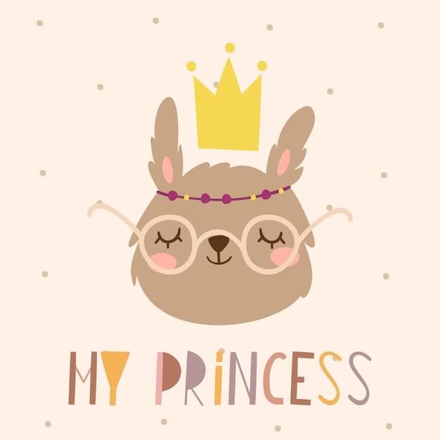 Моя принцесса кролик Бесплатные векторы