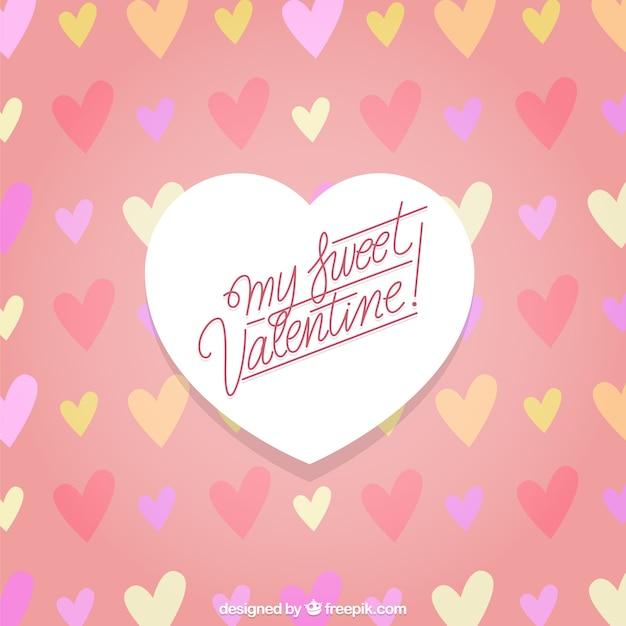My Sweet Valentine Background Free Vector