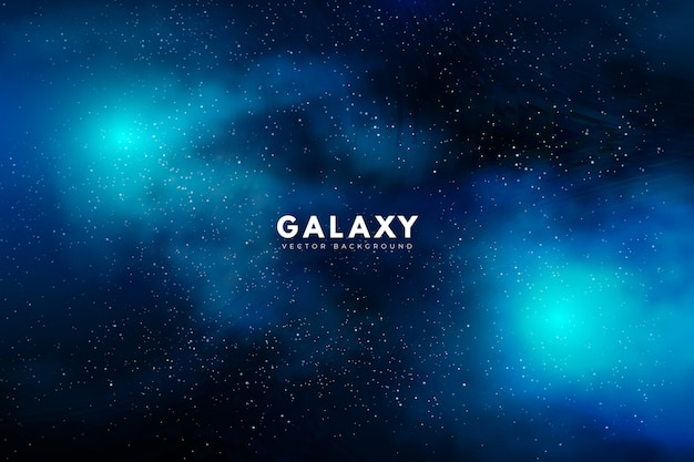 Mysterious galaxy background in green tone Free Vector