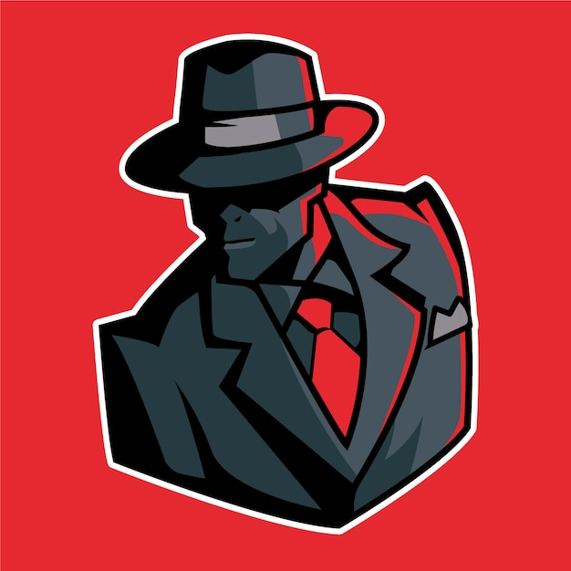 Таинственный гангстерский дизайн персонажей Бесплатные векторы