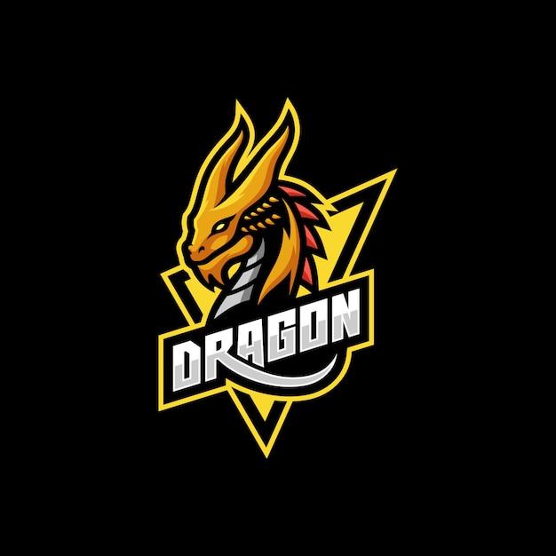 Mythological animals dragon sport e-sports gaming mascot logo Premium Vector