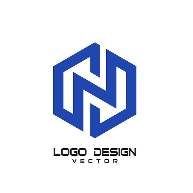 N文字ロゴ Premiumベクター