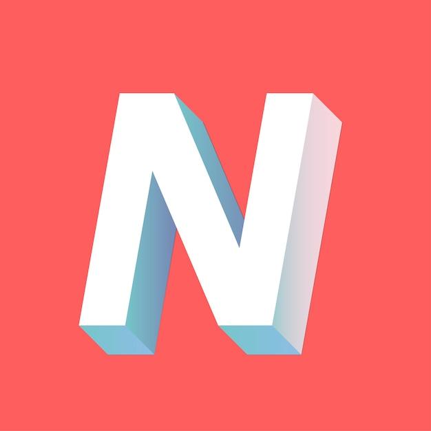 N letter Free Vector