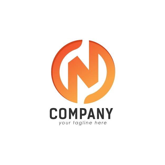N logo design concept Premium Vector