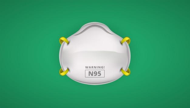 Защитная маска n95 для защиты от коронавирусов Premium векторы