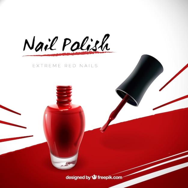 Nail polish advertisement Free Vector