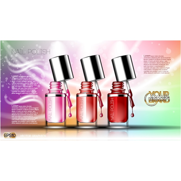 Nail vectors photos and psd files free download nail polish background design prinsesfo Image collections