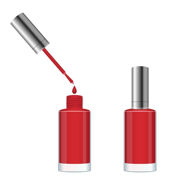 Nail polish bottle design illustration isolated on white background Premium Vector