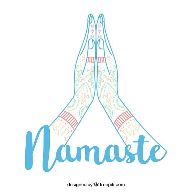 Namaste gesture with modern style