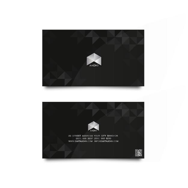 Name card luxury diamond Premium Vector