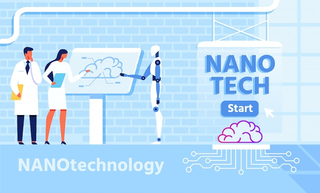 Nano technology for improvement brain functions Premium Vector