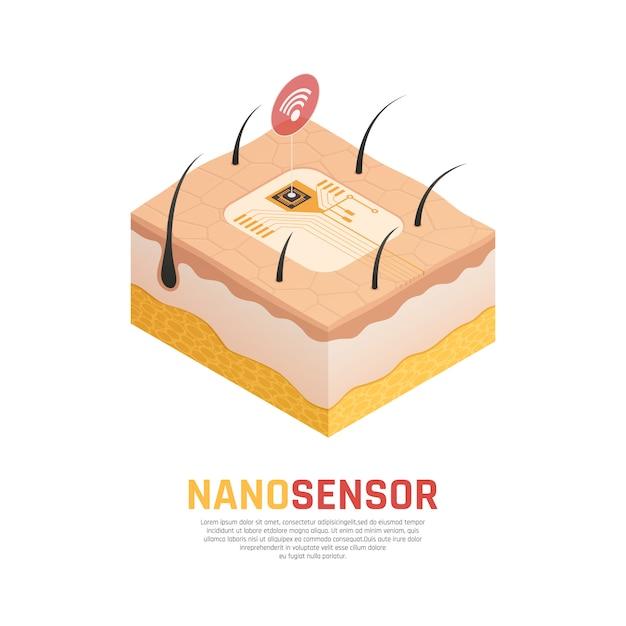 Composizione isometrica di nanotecnologia Vettore gratuito