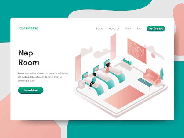 Nap room for web page Premium Vector