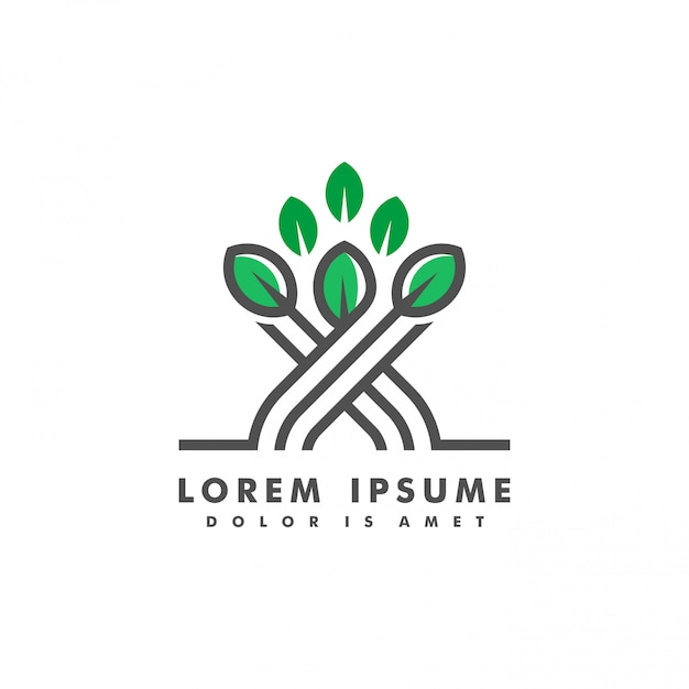 Narture landscape logo vector illustration Premium Vector