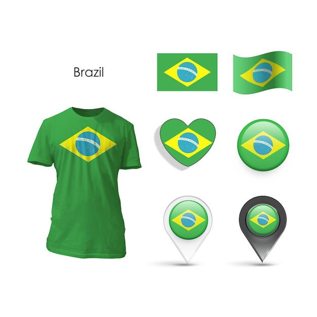 Nation white wearing business brazil Free Vector