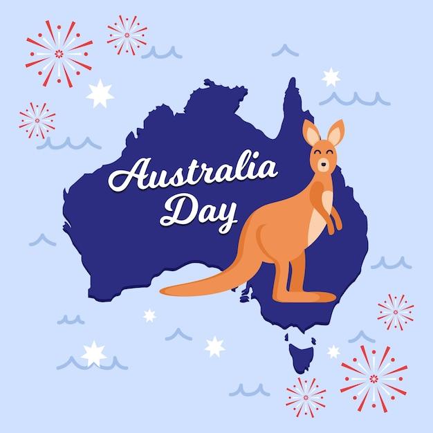 オーストラリア国立デーのテーマデザイン 無料ベクター