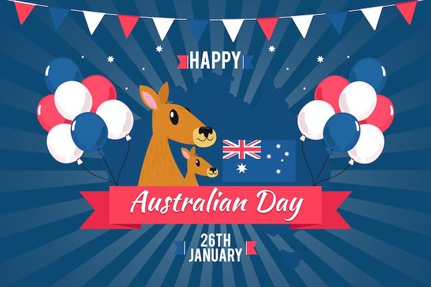 Tema nazionale del giorno dell'australia per l'evento Vettore gratuito