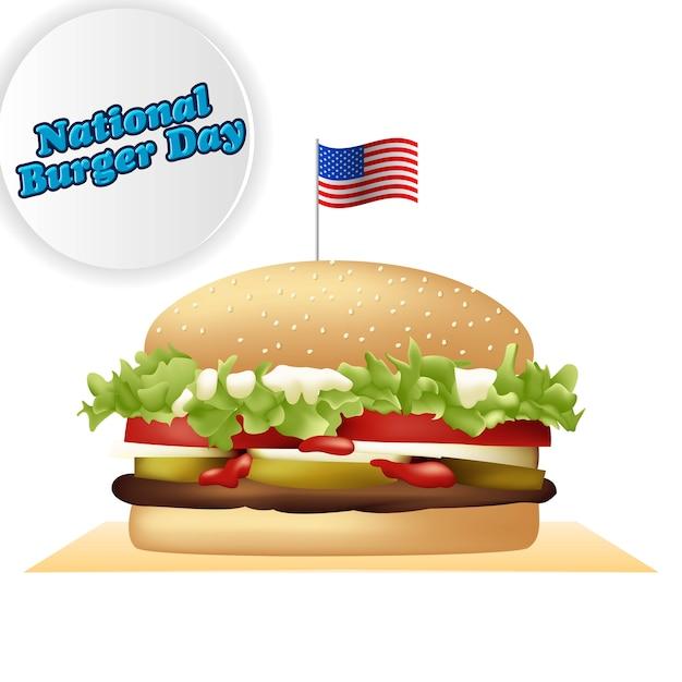 National burger day Premium Vector