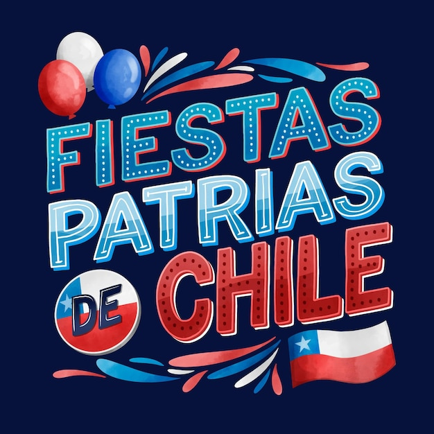 National day of chile concept Free Vector