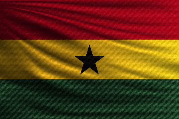 The national flag of ghana. Premium Vector