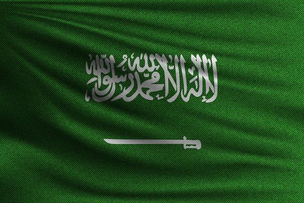 The national flag of saudi arabia. Premium Vector
