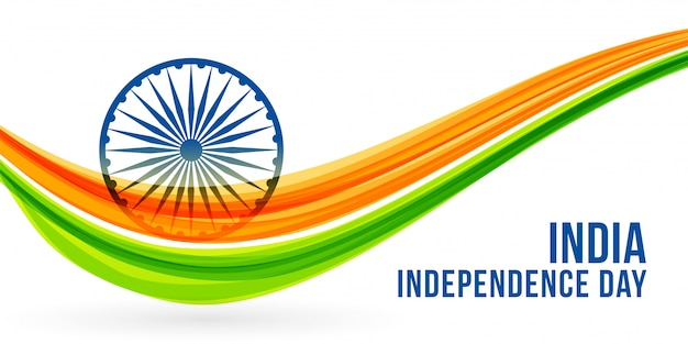 National freedon indian independence day banner Free Vector