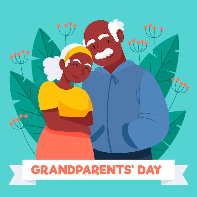 National grandparents day drawing Free Vector