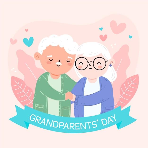 Национальный день бабушки и дедушки Бесплатные векторы