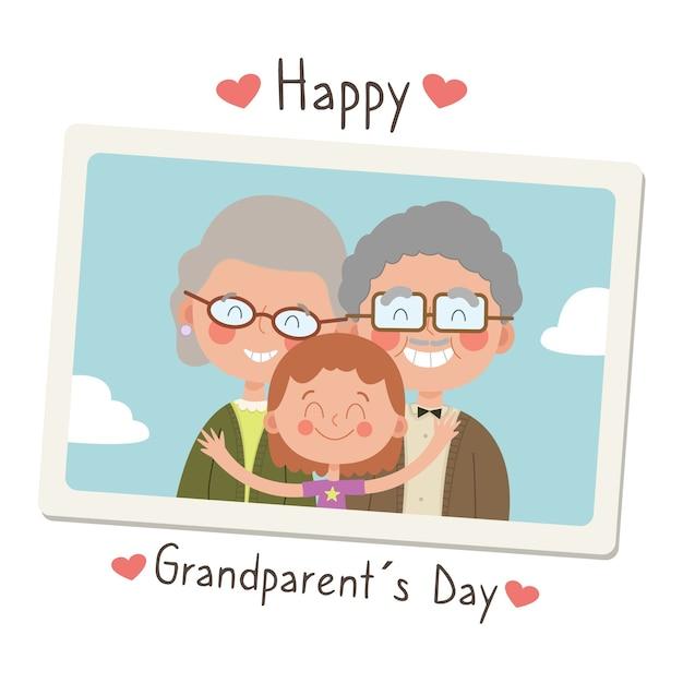 National grandparents day illustration Free Vector