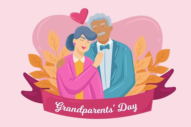 祖父母の日 無料ベクター
