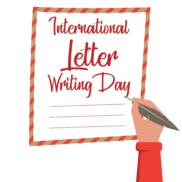 National letter writing day Vector | Premium Download