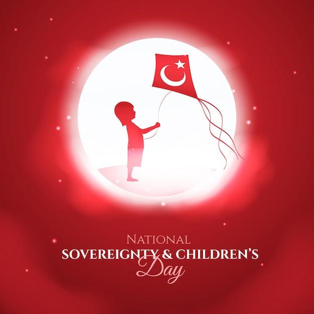 Национальный суверенитет и детский день Бесплатные векторы