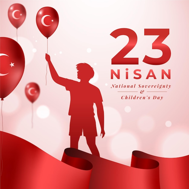 National sovereignty and children's day Free Vector