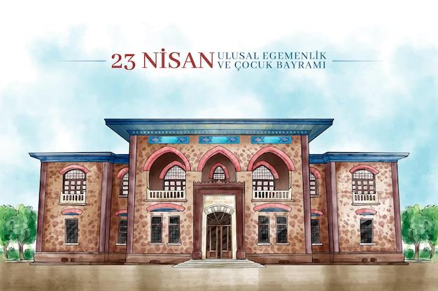 トルコの国家主権の伝統的な建物 無料ベクター