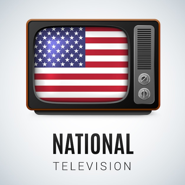 Национальное телевидение Premium векторы