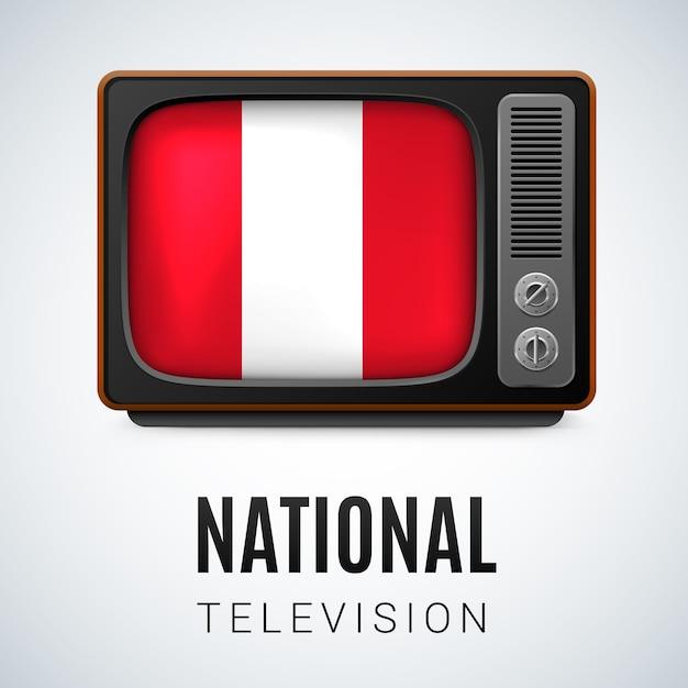 National television Premium Vector