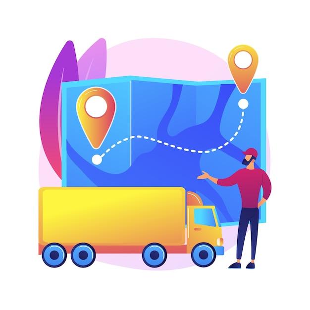 Illustrazione del sistema di trasporto nazionale Vettore gratuito