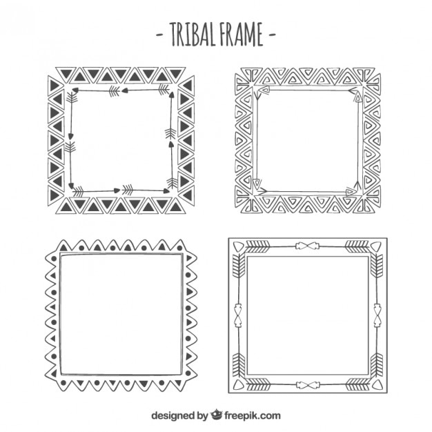 Native American Frames Vector Free Download