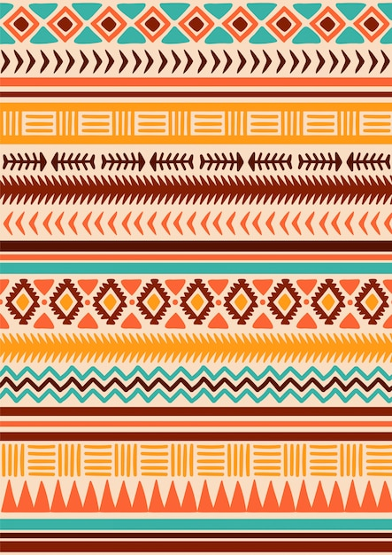 premium vector | native american tribal seamless pattern.  freepik