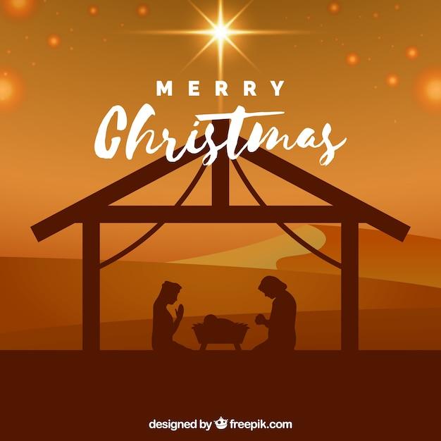 Nativity scene background Free Vector