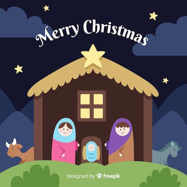 Nativity scene Free Vector